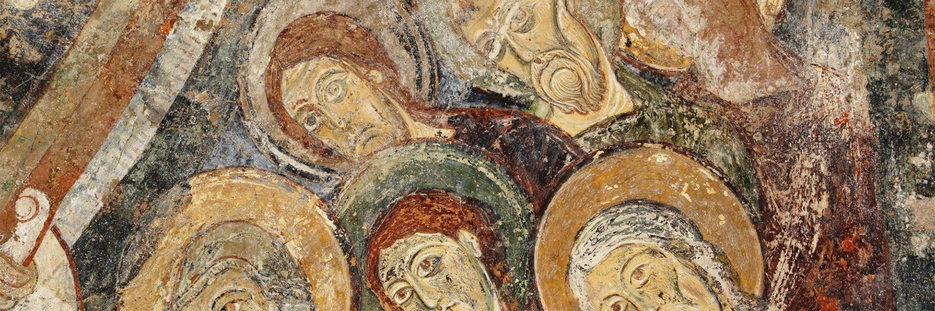 Fresques romanes chapelle des moines